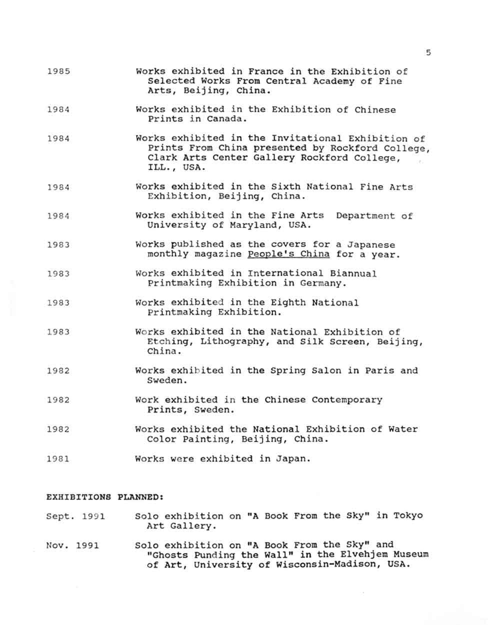 Bing Xu's Resume, pg 5